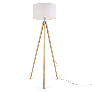 White/Natural Floor Lamp