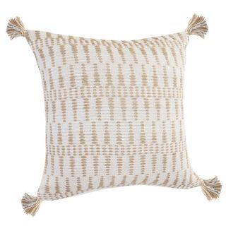 Geometric Tasseled Throw Pillow