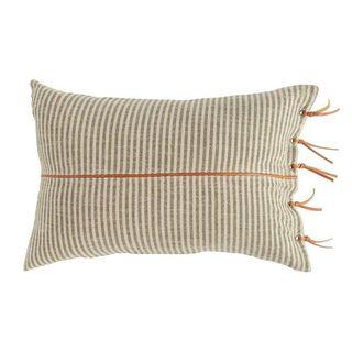 Striped Lumbar Throw Pillow
