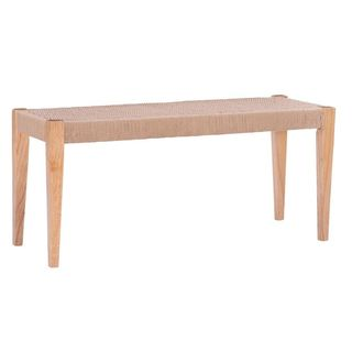 Modern Woven Dining Bench