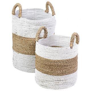 Round Seagrass Decorative Baskets