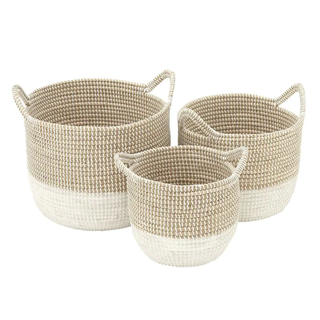 Corded Seagrass Baskets