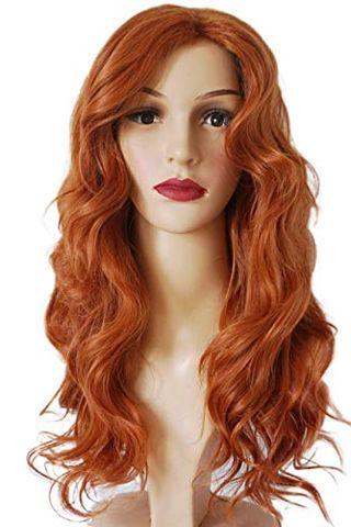 Orange Wavy Wig