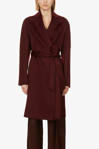 Belted Wool and Cashmere Coat
