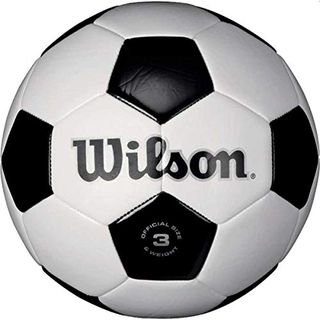 Wilson Traditional Soccer Ball - White/Black, Size 5