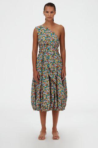 Sabine Floral One Shoulder Dress