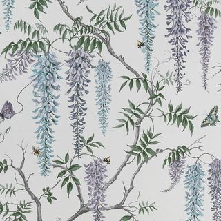 Wisteria Cottage Morning Wallpaper