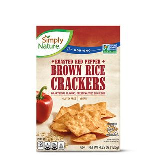 Simply Nature Brown Rice Crackers Roasted Red Pepper