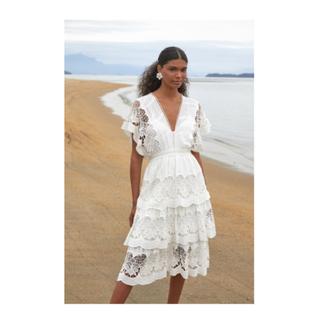 off-white richelieu midi dress
