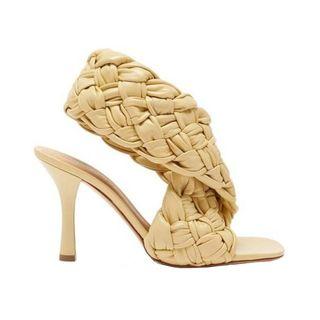Intrecciato leather slingback sandals