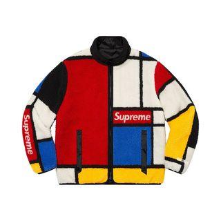 Reversible color-blocked fleece jacket