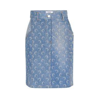 Moon denim mini skirt