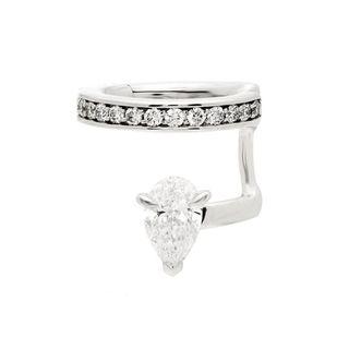 Serti Sur Vide diamond & 18kt white-gold ear cuff