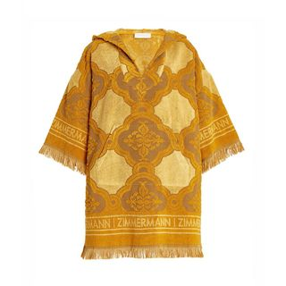 Aliane Fringed Cotton Terry Hooded Dress