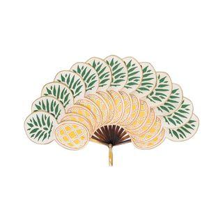 Multicoloured Nanas Large Pineapple Fan
