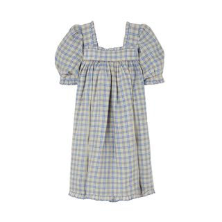 Frede Ruffled Checked  Dress