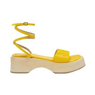 Deanna Pineapple Yellow Sandals
