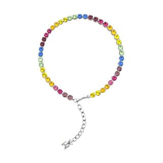 Crystal-Embellished Tennis Anklet