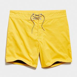 310 Stone-Washed Board Short in Yellow
