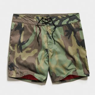 310 Stone-Washed Board Short in Woodland Camo