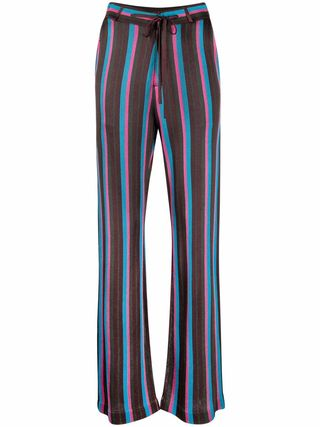 Striped knit pants