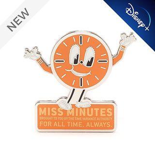 Miss Minutes pin badge
