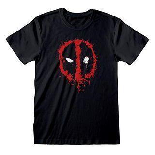 Marvel Deadpool Splat Face Logo T-Shirt