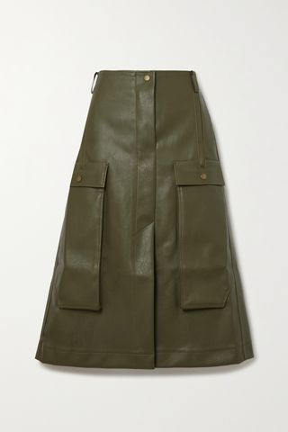 Donna Faux Leather Skirt