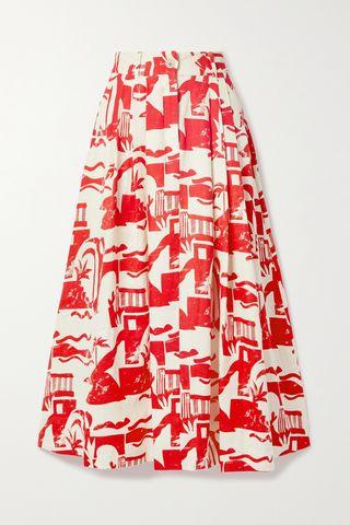 Pleated Hemp Skirt
