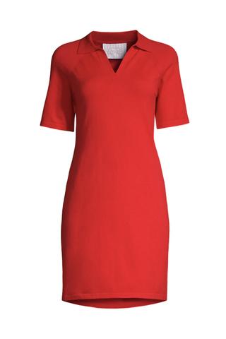 Ribbed Polo Dress