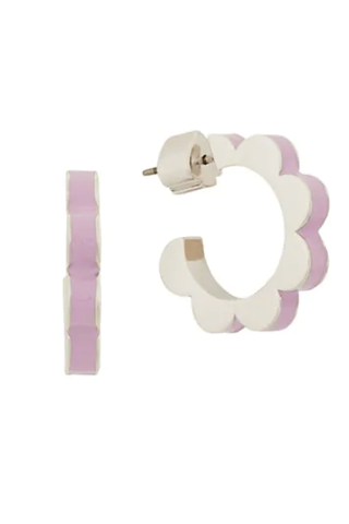 Scalloped Huggie Hoop Earrings