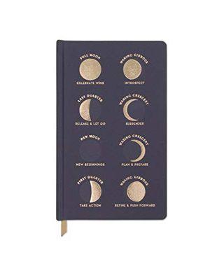 DesignWorks Ink Cloth Hardcover Journal - Moon Phases