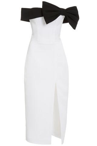 Asymmetric draped satin maxi dress