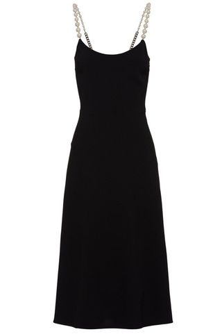 Cady midi dress with pearl details