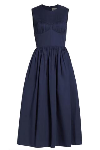 Delphine sleeveless midi dress