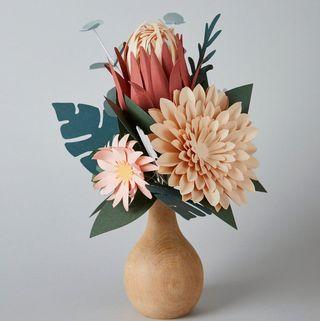Paper Peony Flower Bouquet
