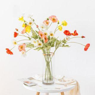 Silk Poppy Flower Stems