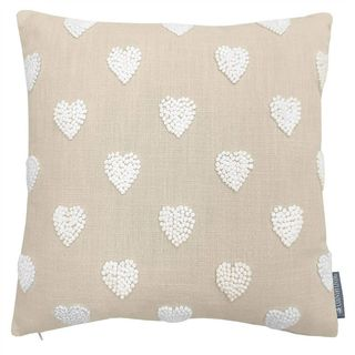 Country Living French Knot Heart Cushion