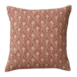 Ghini Feathers Cushion Cover, Red