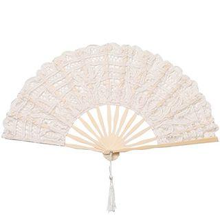 Cotton Lace Folding Handheld Fan