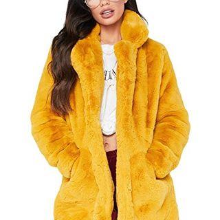 Long Sleeve Winter Warm Lapel Fox Faux Fur Coat