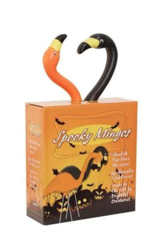 Spooky Flamingos