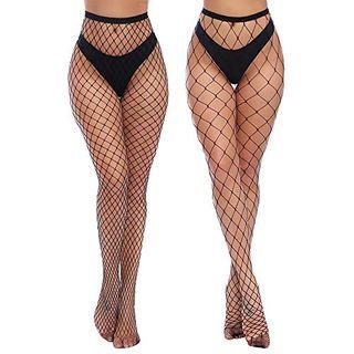 Charmnight Womens High Waist Tights Fishnet Stockings