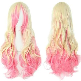 Long Spiral Curly Hair Wig Heat Resistant Cosplay Costume Wig