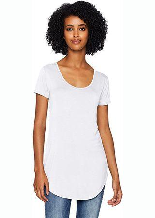 Scoop-Neck Longline T-Shirt