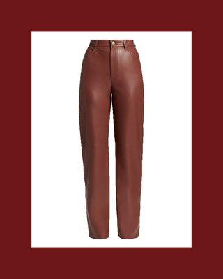 Radha Faux Leather Pants