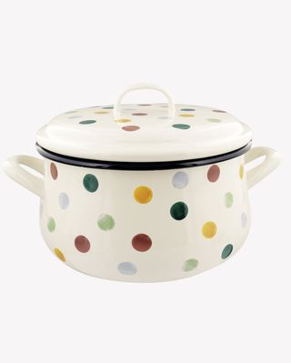 Polka Dot Medium Enamel Casserole Pot