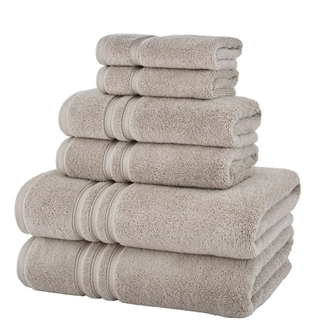 Turkish Cotton Ultra Soft 6-Piece Towel Set in Riverbed