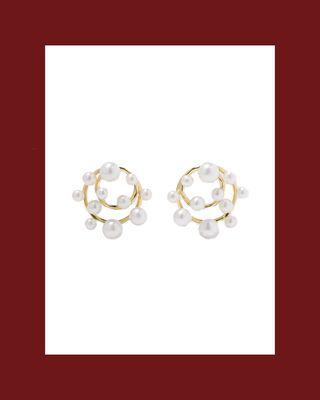 Nova 18-Karat Gold Pearl Earrings