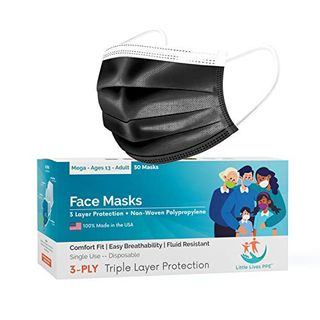 3-Layer Disposable Masks (50 Pack)